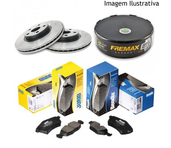 Freio Discos e Pastilhas Fiat Doblo 1.8 Adventure 04/10 (Kit Dianteiro)